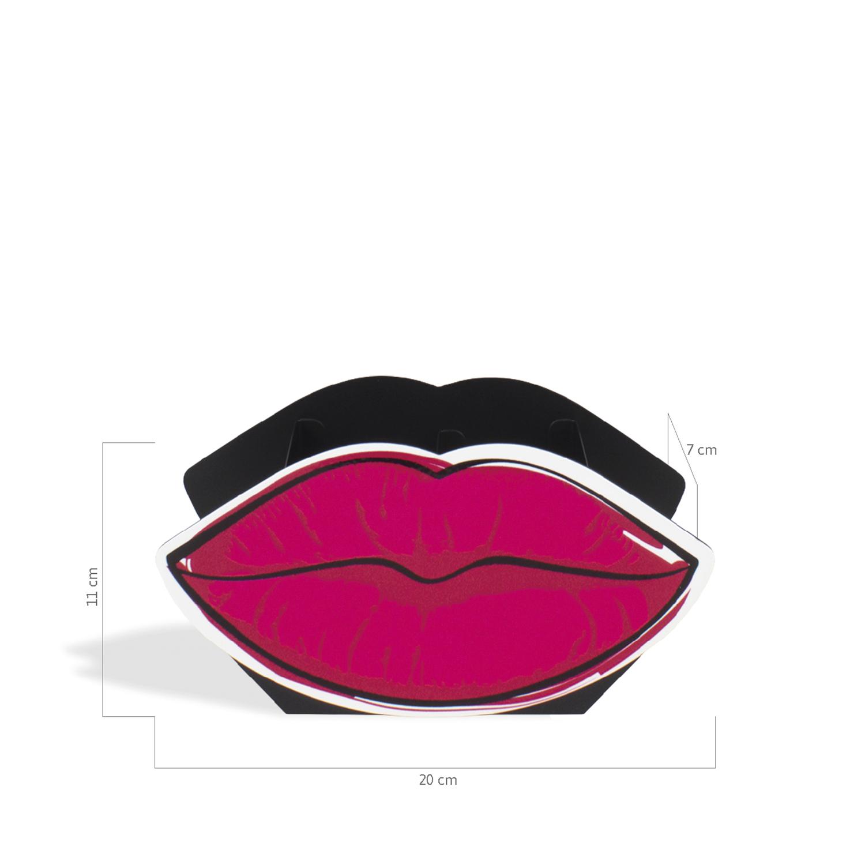 Porta maquiagem duplo boca rosa